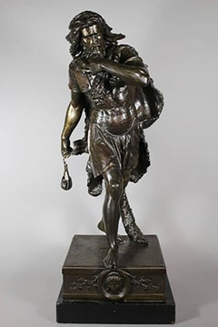Large Bronze Sculpture of David slaying Goliath