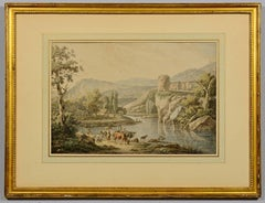 18th Century Henrious Josephus Antonissen Watercolor
