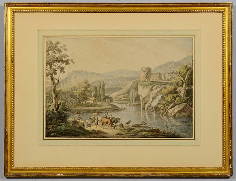 18th Century Henrious Josephus Antonissen Watercolor - Art by Josephus Antonissen
