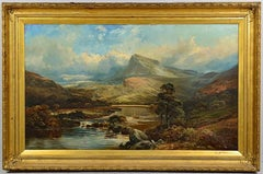 Large 19th Century Clarence Roe Landscape Painting