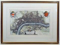 Very Rare 17th Century Map of London, England