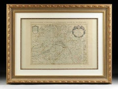17th Century Antique French Engraved Map of D'Orleans by H. Jaillot Dated 1696