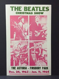 "Original Beatles in ""Christmas Show"" Concert Poster – December 24th 1963"