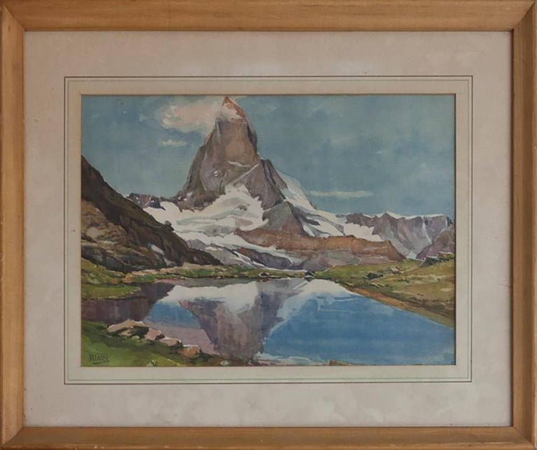 Original Watercolor by Ethel Mars (1876 – 1956)  Watercolor on Paper  Framed and Matted under Glass  Hand signed by the artist   Approximately  16″ x 14″ inches  Includes certificate of authenticity  Ethel Mars was active/lived in Massachusetts,