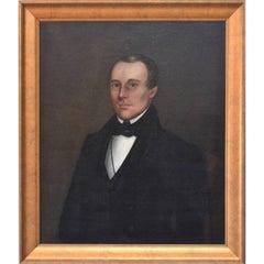 Attributed to Ammi Phillips, Folk Art Portrait of a Gentleman, 19th Century