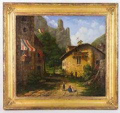 "Samuel Kilburn Oil Painting Entitled ""Armenian Village"" – 1849"
