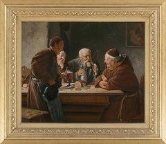 19th Century German School Oil Painting in the manner of Eduard von Grützner