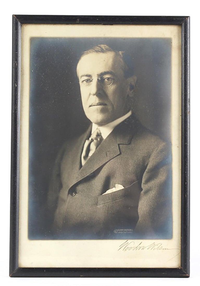 Unknown Portrait Photograph - President Woodrow Wilson Autographed Photo SIGNED