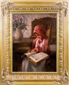 """Portrait Oil Painting by Chauncey Ray Homer Entitled """"Once Upon A Time"""""""