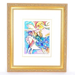 "Limited Edition Signed Zamy Steynovitz Serigraph ""Horseback Queen Capture"""