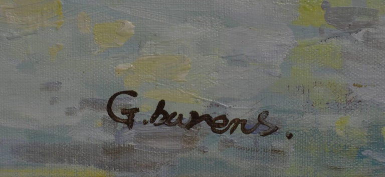 Signed G. Barens Oil on Canvas - Impressionist Painting by Unknown