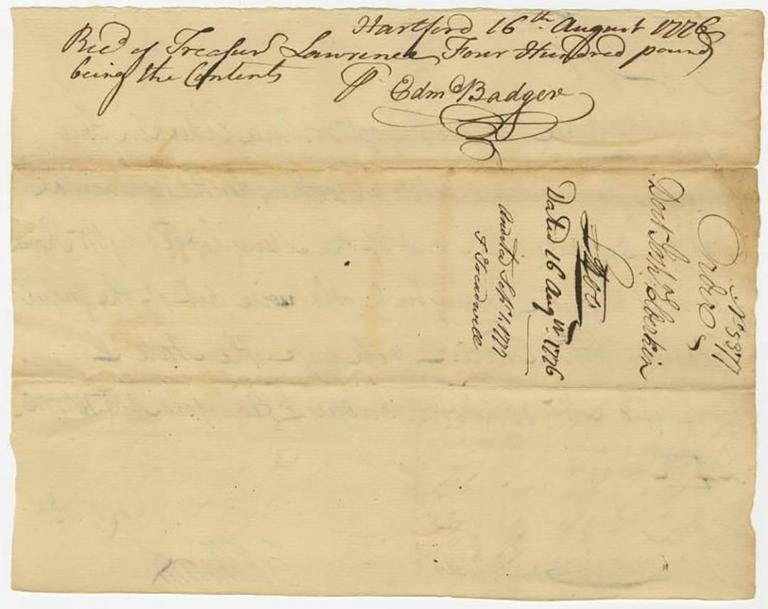 Oliver Ellsworth - Revolutionary War Document Signed by ...