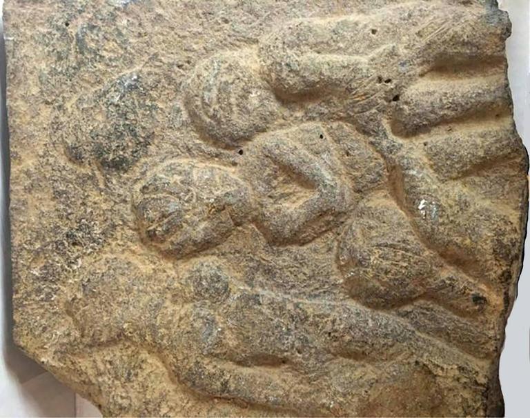 Basalt Stone Sculpture : Unknown ancient roman basalt stone panel