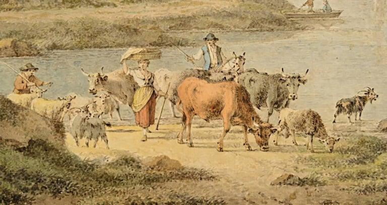18th Century Henrious Josephus Antonissen Watercolor For Sale 1