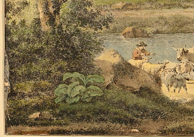 18th Century Henrious Josephus Antonissen Watercolor For Sale 4