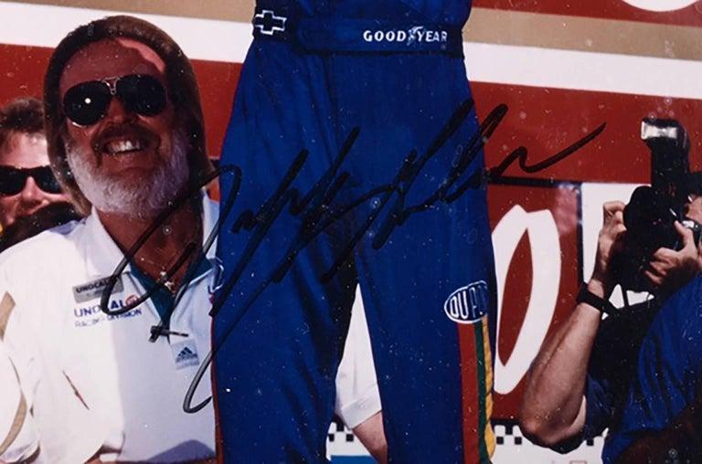 Very Nice Autographed Jeff Gordon Photo with Authentication Hologram & COA - Black Portrait Photograph by Jeff Gordon