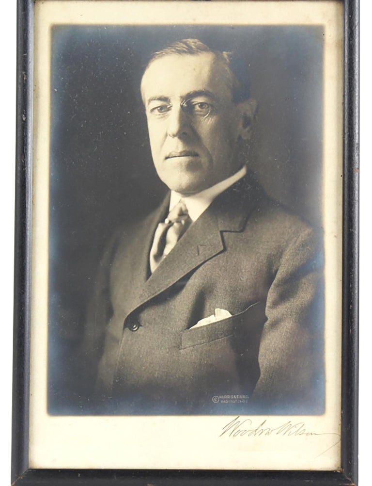 President Woodrow Wilson Autographed Photo SIGNED - Photograph by Unknown