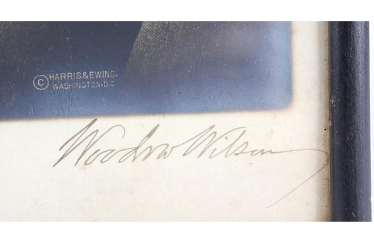 President Woodrow Wilson Autographed Photo SIGNED - Art Deco Photograph by Unknown