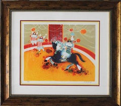 """Frederic Menguy-Limited Ed Serigraph """"At The Circus"""""""