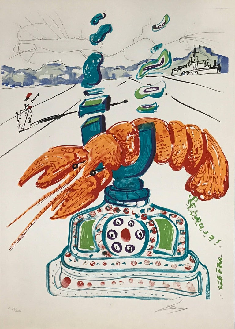 Salvador Dalí - Cybernetic Lobster Telephone 1