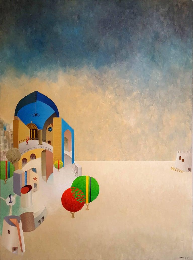 Karl Momen Abstract Painting - Childhood Fatah Morgana