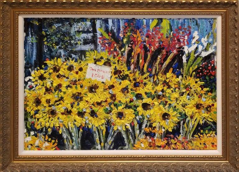 James M. Bullock Landscape Painting - Sun Flowers for Sale