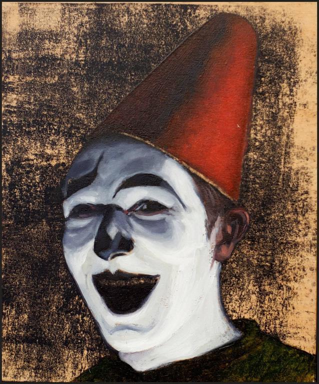 Beñat Iglesias Lopez Portrait Painting - Self Portrait as a Clown