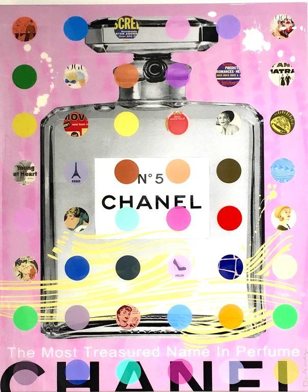 Nelson De La Nuez, Chanel #5: Pink with Gray Bottle