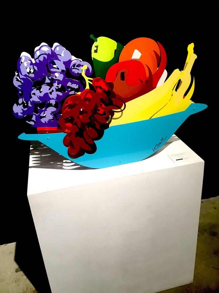 Michael Kalish Still-Life Sculpture - Basket of Fruit
