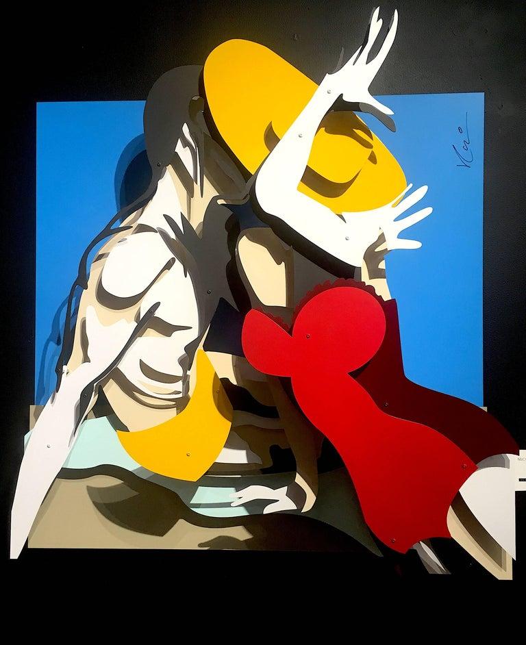 Michael Kalish, Beach Kiss - Sculpture by Michael Kalish