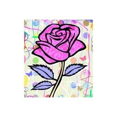 Nelson De La Nuez, Pop Flower Series: Pink Romance Comic Rose