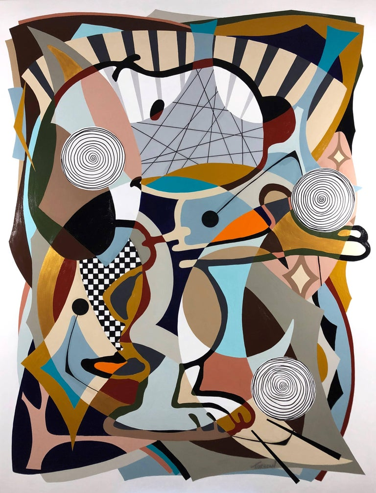 Amauri Torezan Abstract Painting - Good Times In Utopia
