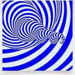 Blue Twisted Spiral Vortex