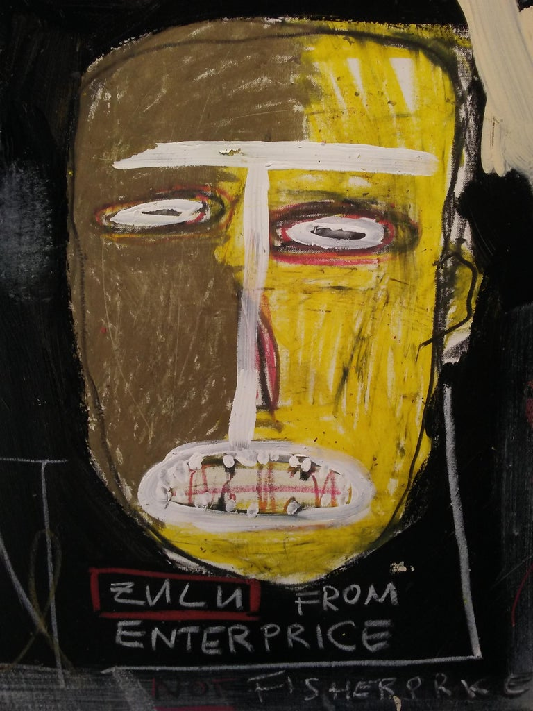 Niclas Castello, Zulu from Enterprise - Neo-Expressionist Painting by Niclas Castello