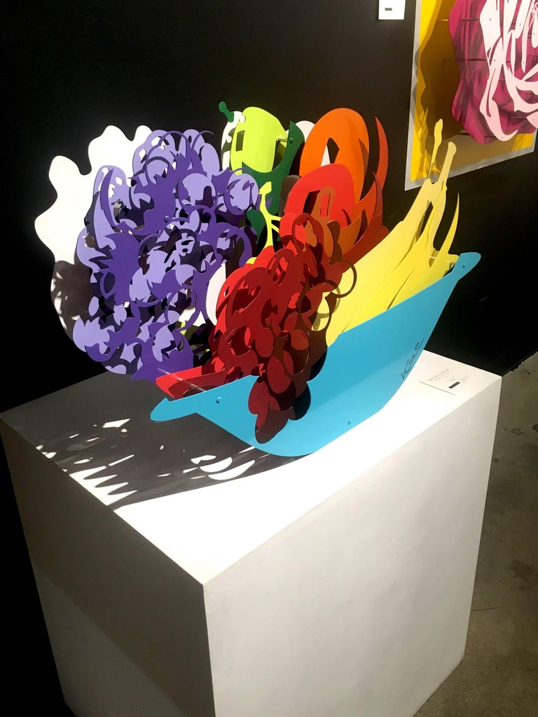 Basket of Fruit - Sculpture by Michael Kalish