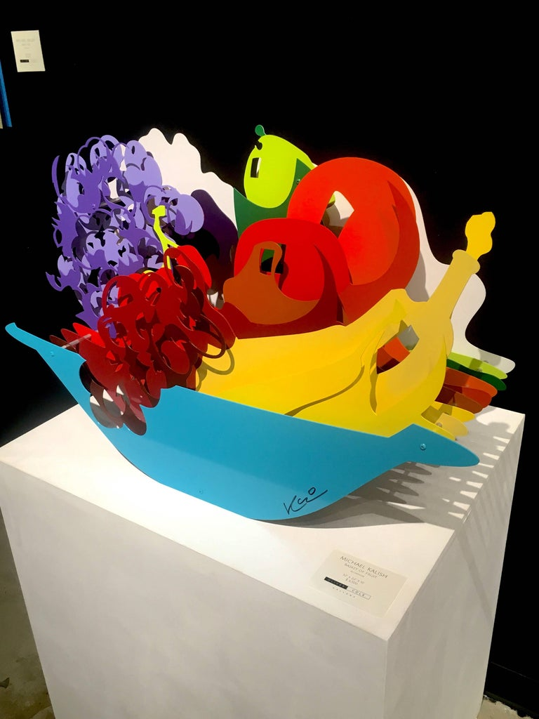 Basket of Fruit - Contemporary Sculpture by Michael Kalish