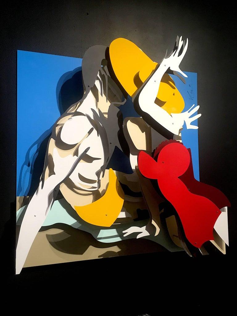 Michael Kalish, Beach Kiss - Assemblage Sculpture by Michael Kalish