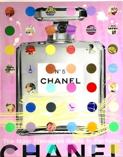 Chanel #5: Pink with Gray Bottle