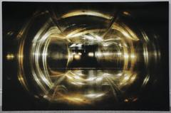 Large Contemporary Photograph of Abstract Headlights in Tunnel