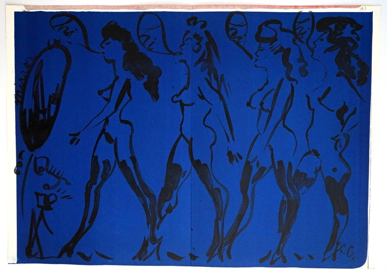 Claes Oldenburg Nude Print - Parade of Women, from One Cent Life