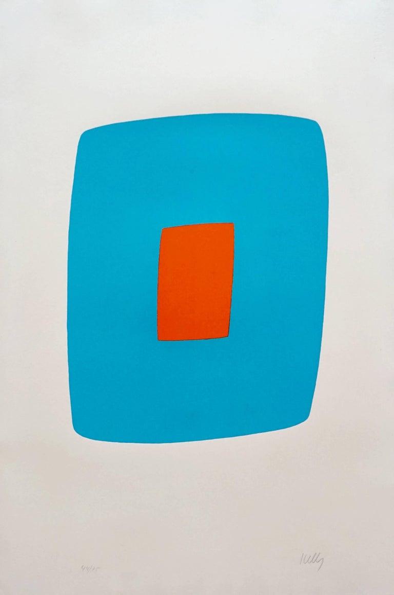 Ellsworth Kelly - Light Blue With Orange VI.11 1