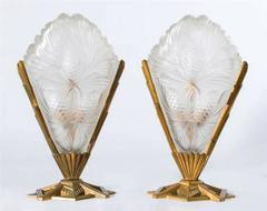 Sabino Paris, Signed Pair  of Art Deco Table Lamps