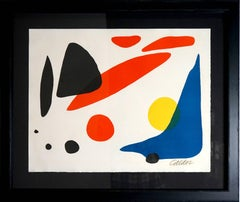 Alexander Calder - Composition (Blue Boomerang with Red, Black and Yellow Shapes)