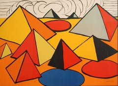 Alexander Calder - Composition with Pyramids, Circles and Clouds