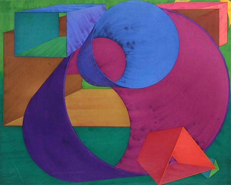 Al Held Abstract Print - Indigo