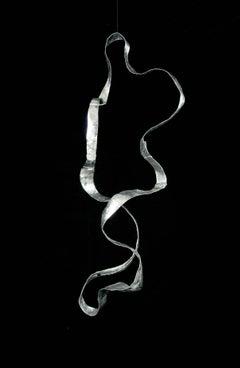 "Mobile Sculpture in hammered aluminum ""Waves"""