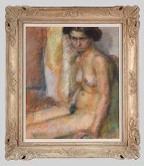 Sitting female nude