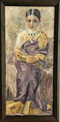 Hugo V. Pedersen: A Siamese bride. Oil on canvas