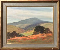 Untitled (California Landscape with Oaks and Poppies)