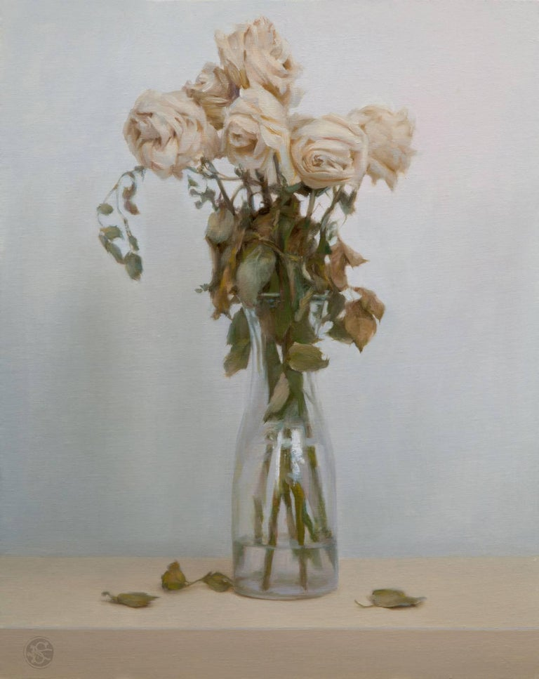 Dead Roses - Painting by Kate Sammons